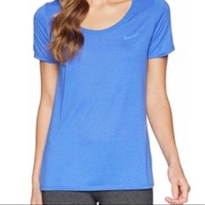 Nike Dri-Fit Two Tone Blue Workout Tee Shirt